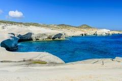 White chalk cliffs Stock Image