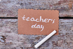 White chalk and greeting card. Stock Images