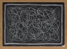 Free White Chalk Scribble On Blackboard Stock Photography - 11714542