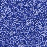 White chamomile flowers seamless pattern Royalty Free Stock Image