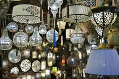 White Chandeliers of the Grand Bazaar Stock Photography
