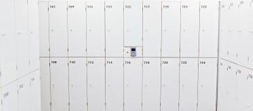 White change room lockers Stock Images