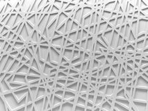 White chaos mesh background rendered. White chaos mesh background 3D render Stock Image