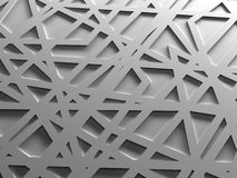 White chaos mesh background rendered Royalty Free Stock Images