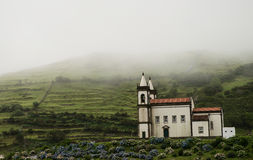 White chapel on Azores Royalty Free Stock Photography
