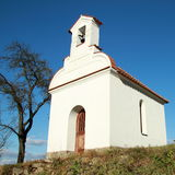 White chapel with a bell Royalty Free Stock Images