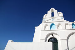 White chapel. In Cyclades, Greece Royalty Free Stock Photos