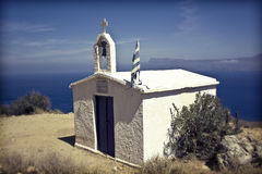 White chapel in Grece Royalty Free Stock Photos