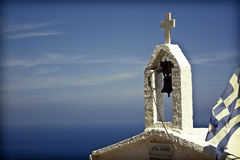 White chapel in Grece Stock Image