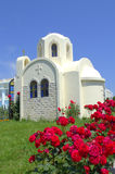 White chapel Greece Royalty Free Stock Photo