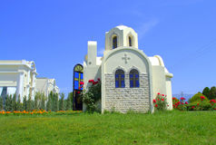 White chapel Greece Royalty Free Stock Photography