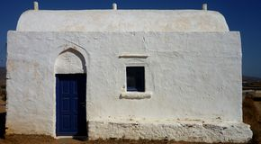 White chapel. On a Greek island Stock Image