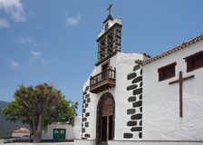 White chapel at La Palma, Canary Islands Royalty Free Stock Image