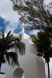 White chapel at Mexico Royalty Free Stock Images