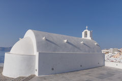 White chapel in Oia Royalty Free Stock Image