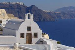 White chapel in Oia Stock Photos