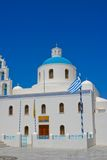 White chapel in Santorini Royalty Free Stock Images