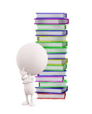 White character with book vector illustration
