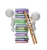 White character with book royalty free stock image