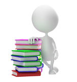 White character with book stock photo