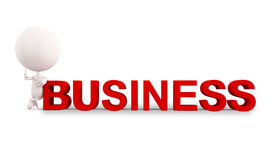 White character with Business. 3D white character illustration with Business concept Stock Photo