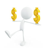 White character with dollar sign Stock Image