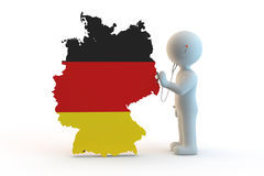 White character and germany health royalty free illustration