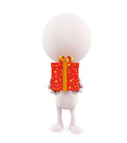 White character with gift box Stock Photo