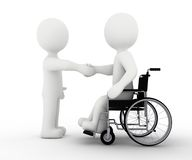White character and handicap. Solidarity royalty free stock image