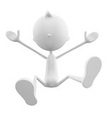 White character with jump pose Stock Photo