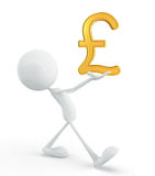 White character with pound Royalty Free Stock Photos