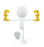 White character with pound sign Stock Image