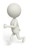 White character with running. 3d White character with running Royalty Free Stock Images