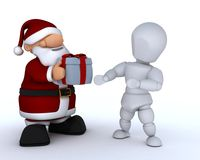 White character and santa claus Royalty Free Stock Photos