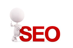 White character with SEO royalty free stock images