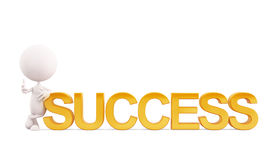 White character with success royalty free stock photography