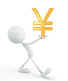 White character with yen Stock Photo