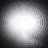 White chat bubble symbol on light grey background Royalty Free Stock Photos