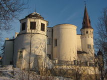 White chateau in winter Royalty Free Stock Photo