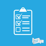 White check list icon Stock Photography