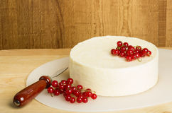White cheddar cheese block with currants Royalty Free Stock Photo