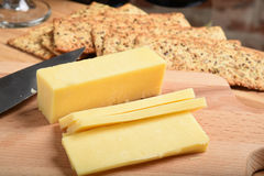 White cheddar cheese Royalty Free Stock Photography