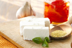 White cheese Royalty Free Stock Images