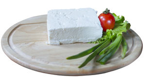 White Cheese and onion Royalty Free Stock Photography