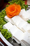 White cheese and salad Royalty Free Stock Photo