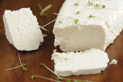 White cheese and watercress Royalty Free Stock Images