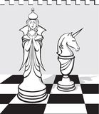 The white chess royalty free illustration