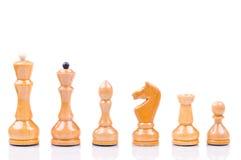 White chess. On the white background Royalty Free Stock Photos