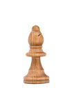 White Chess Bishop Isolated on White Background Stock Images