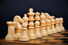 White Chess Figure Royalty Free Stock Photography